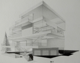"""© 2017 """"Party House"""", standard writing pencil on paper, 6.5″ x 5″, original design.  Available on: ArtPal   Redbubble   Society6   Etsy   Gumroad"""