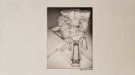 "©2019 ""Crystal"", 4"" x 3"", standard pencil on paper, original design."